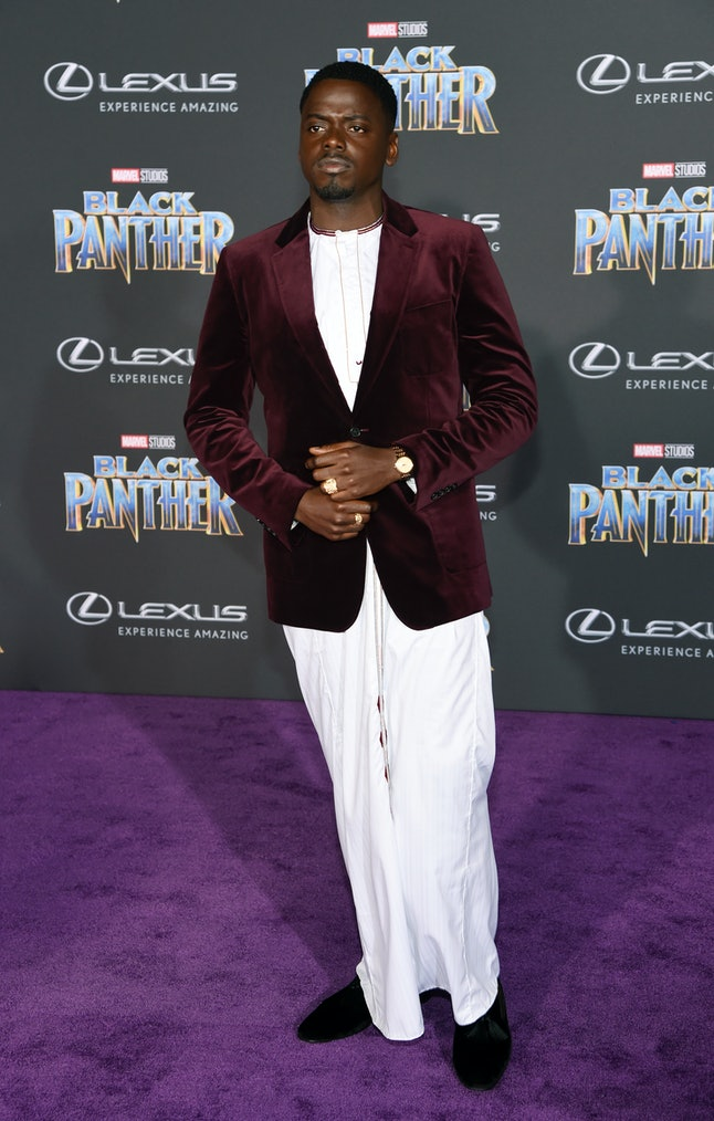 Daniel Kaluuya at the Los Angeles World Premiere of 'Black Panther'