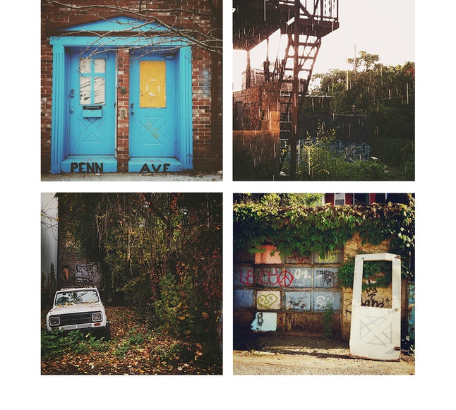 Scenes from the couple's previous Pittsburgh neighborhood, Garfield, as captured through Lisa Toboz's lens