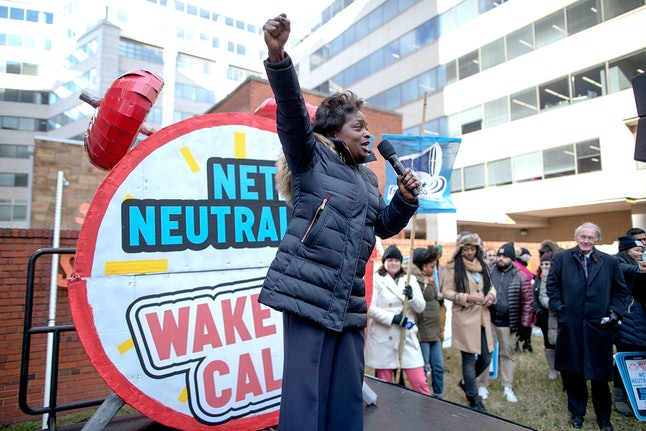 Federal Communication Commission commissioner Mignon Clyburn, one of two Democratic commissioners who oppose today's vote