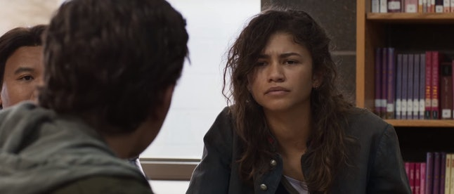 """Zendaya's Michelle asks to be called """"MJ"""" near the film's end."""