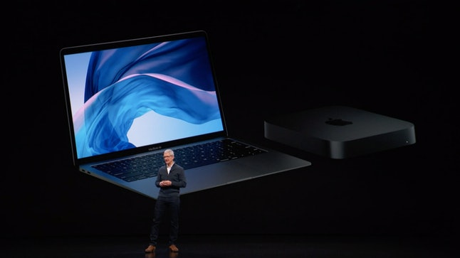 A new MacBook Air and Mac Mini have been introduced.