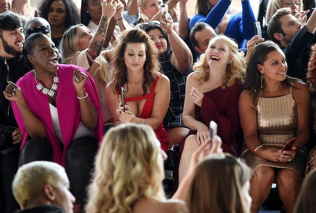 Leslie Jones, Gina Gershon, Patricia Clarkson and Vanessa Williams attend the Christian Siriano fashion show