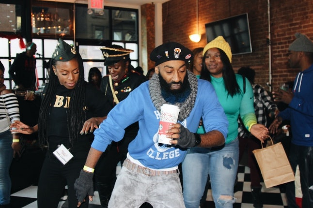 Dancing inside of Tilly's. Each bar participating in Kwanzaa Crawl featured DJs spinning from 3 p.m. to 11 p.m.