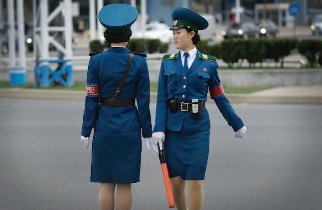 North Korean traffic police