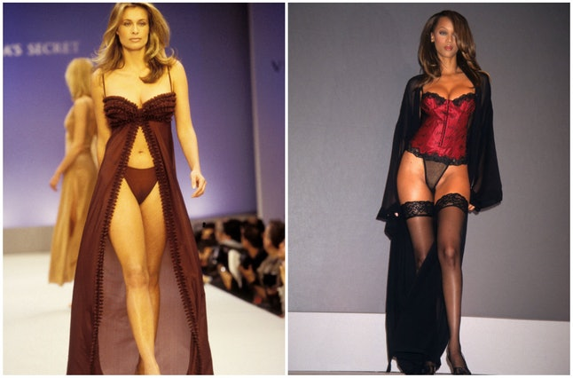 Frederique Van Der Wal in 1997 and Tyra Banks in 1997