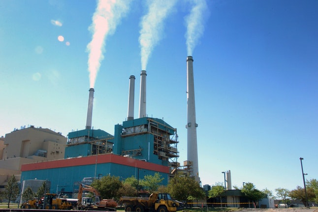 A Montana power plant releases carbon into the air.