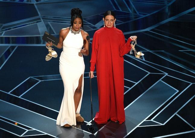 Tiffany Haddish and Maya Rudolph present the award for best documentary short subject at the 2018 Oscars.