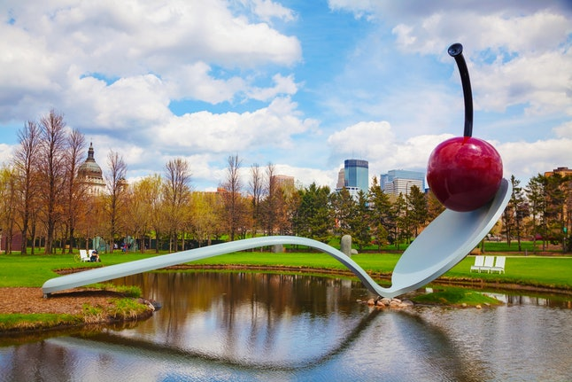 The iconic Spoonbridge and Cherry at the Minneapolis Sculpture Garden