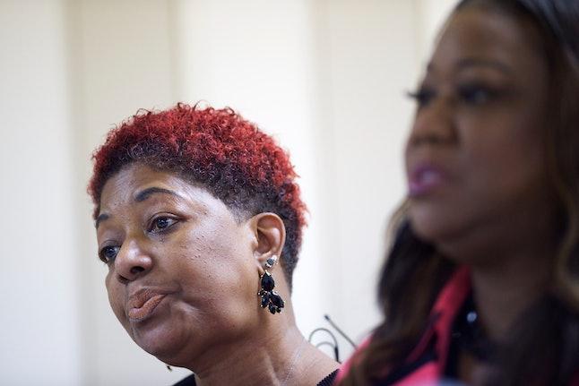 Maria Hamilton, mother of Dontre Hamilton, and Sybrina Fulton, mother of Trayvon Martin.
