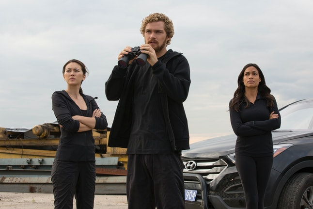 Colleen Wing, Danny Rand and Claire Temple in 'Iron Fist'