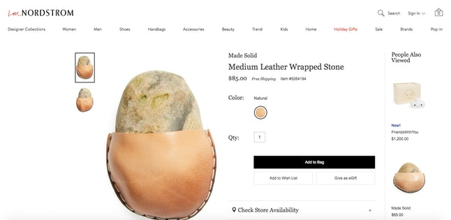The rock in question, in its rock diaper