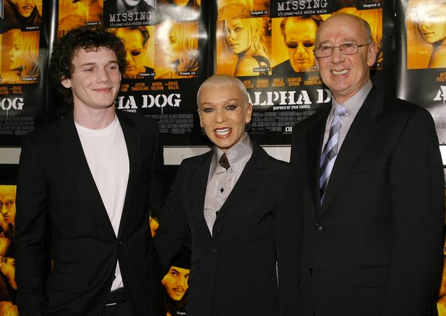 Anton Yelchin and his parents at the 2007 premiere of 'Alpha Dog.'