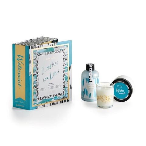 Included in set: Bubble Bath, Body Soufflé and Fragranced Candle