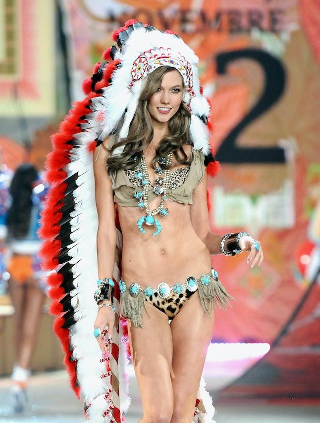 Karlie Kloss at the 2012 Victoria's Secret Fashion Show
