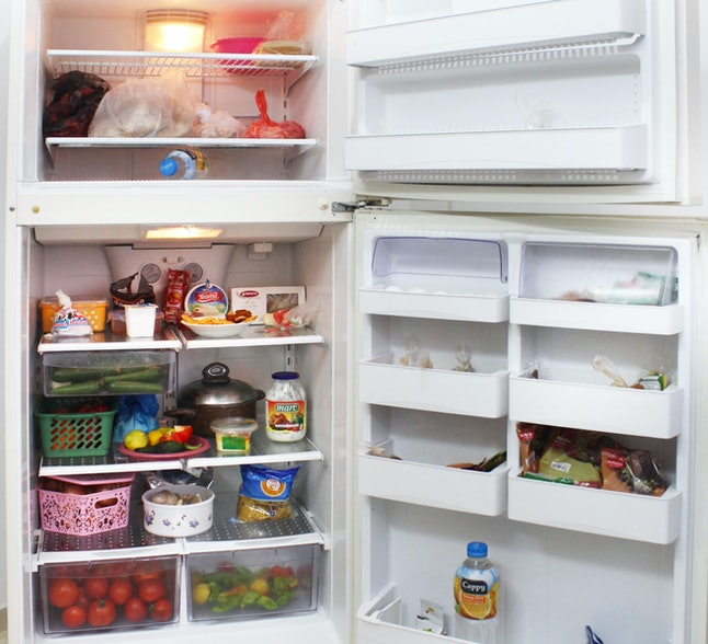 Inside a refrigerator in the Palestinian territories