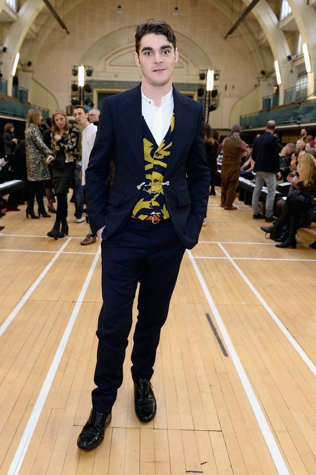 RJ Mitte at the Vivienne Westwood show