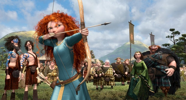 Merida, voiced by Kelly Macdonald, a princess with a mind of her own in 'Brave'