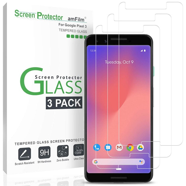 amFilm Tempered Glass Google Pixel 3 Screen Protector