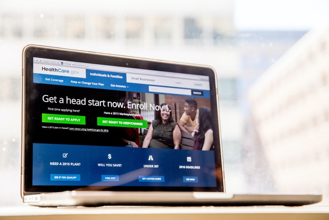 The HealthCare.gov website, where people can buy health insurance, is displayed on a laptop screen in Washington on Oct. 6, 2015.