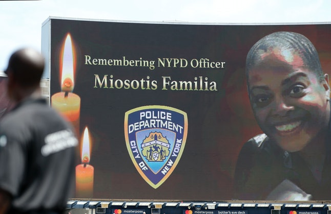 The New York Yankees honored slain NYPD officer Miosotis Familia before the start of their game on July 5, 2017.