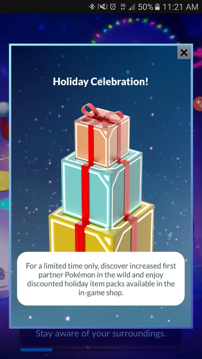 Pokémon Go Dec. 30 update notice