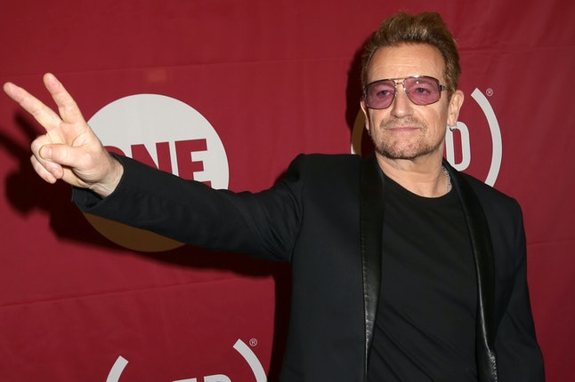 Bono at a ONE- and RED-hosted event on World AIDS Day 2015.