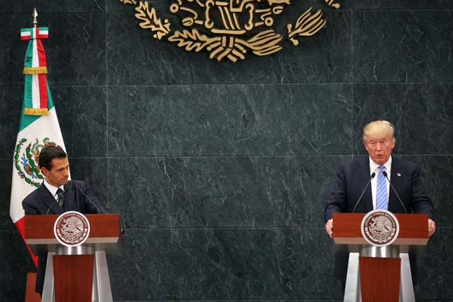 Peña Nieto and Trump met in Mexico City prior to the election.
