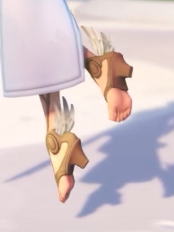 """Mercy's half-foot cliffhangers, which Ryan described as """"Hermes shoes,"""" as though that makes this OK."""