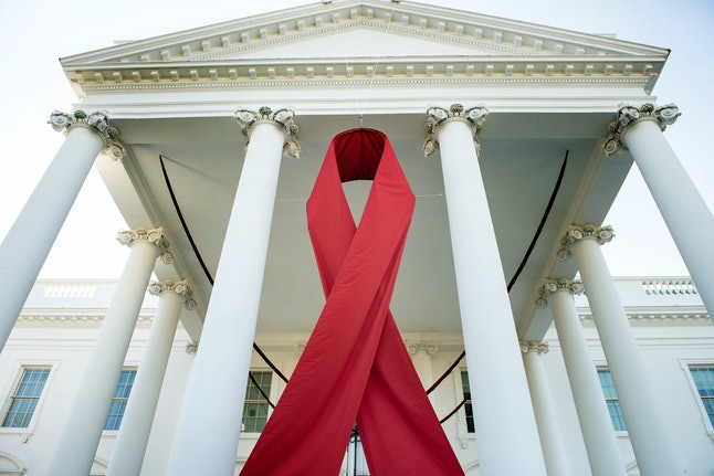 The White House commemorating World AIDS Day in 2013