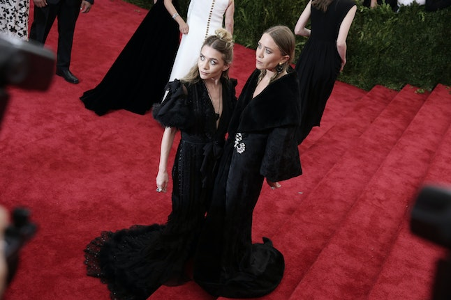 Mary-Kate and Ashley at the 2015 Met Ball in New York City.