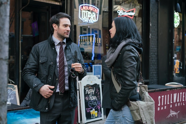 Charlie Cox and Kristen Ritter in 'The Defenders'