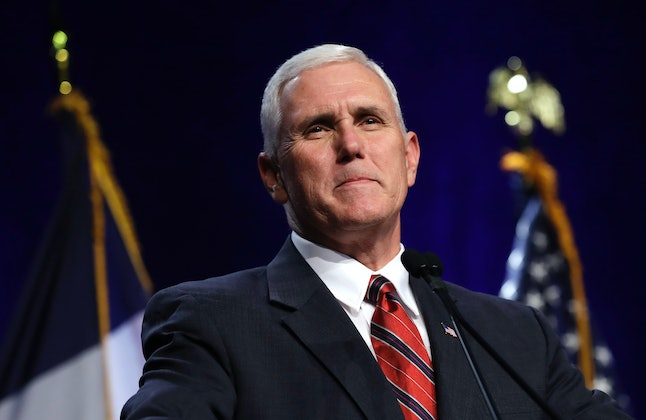 Mike Pence, Indiana's unpopular governor and Donald Trump's running mate.