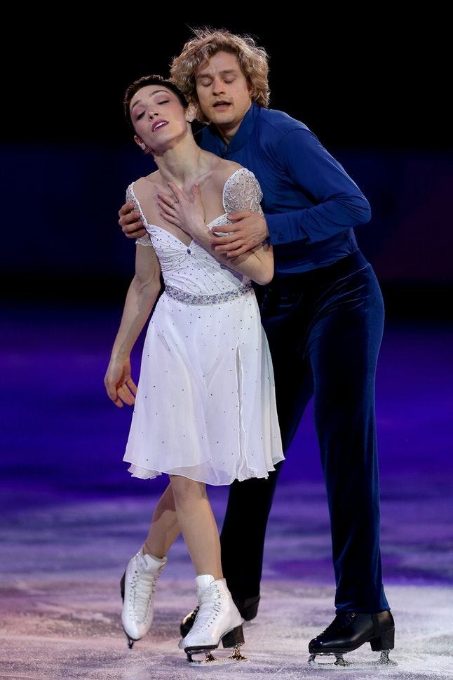 Meryl Davis and her partner Charlie White at the Sochi Olympics in 2014