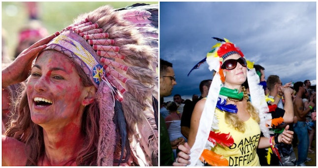 Is it ever OK for a white person to wear a feather headdress?