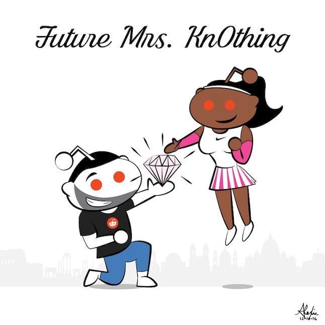The image included in Serena William's poem post on Reddit