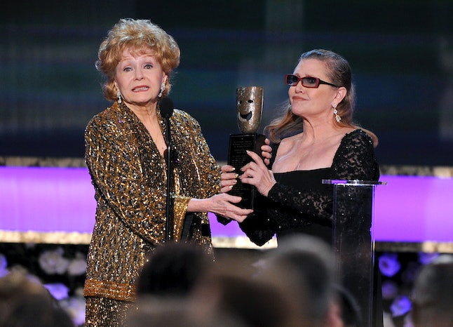 Carrie Fisher presented her mother Debbie Reynolds with the Screen Actors Guild Lifetime Achievement Award in 2014.