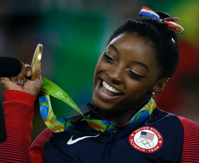 Olympic gymnast Simone Biles won four gold medals and one bronze at the 2016 games.