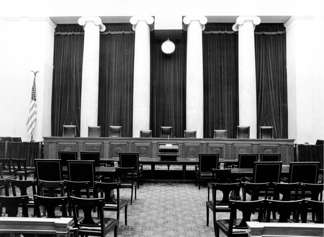 he chambers of the U.S. Supreme Court, the highest court in the nation, in Washington, D.C., on Feb. 6, 1976.