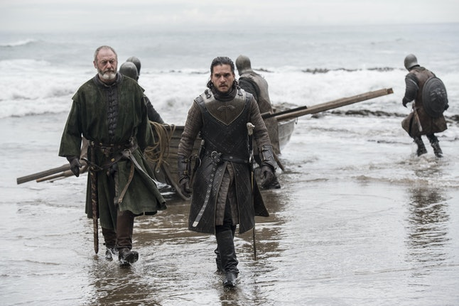I wonder if they spotted Gendry rowing in the middle of the sea.