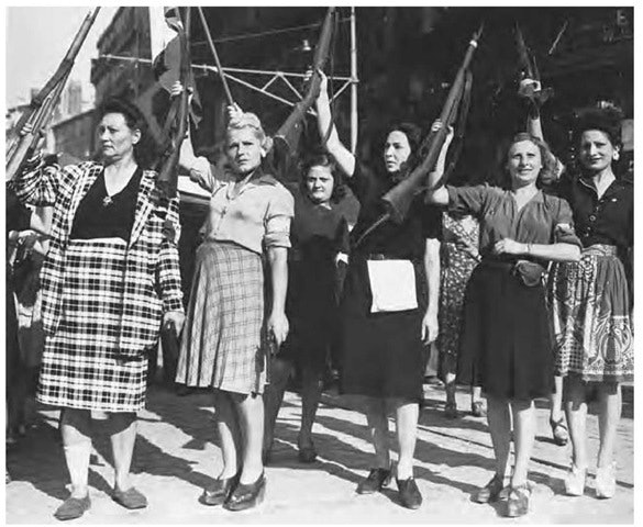 A group of French resistance fighters in Marseille