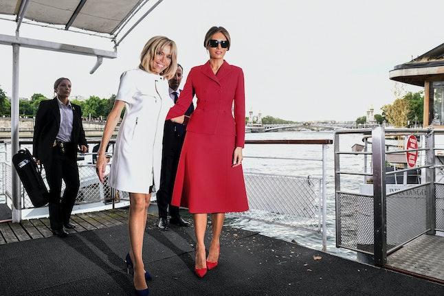 Melania Trump and Brigitte Macron in Paris