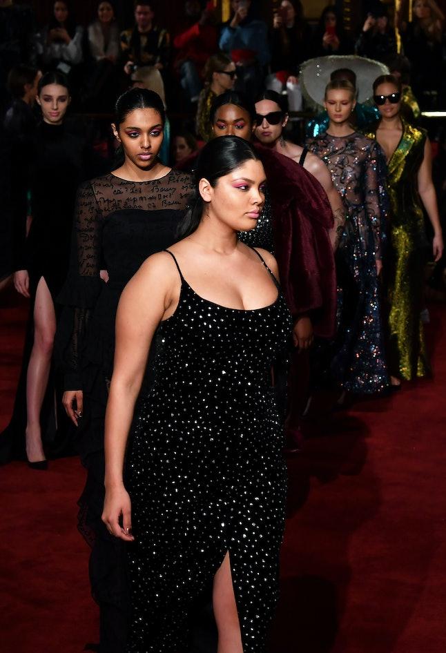 Models at Siriano's fall/winter show during NYFW