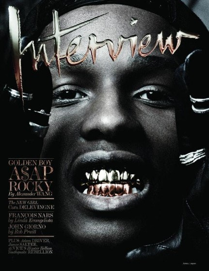 A$AP Rocky on the cover of 'Interview'