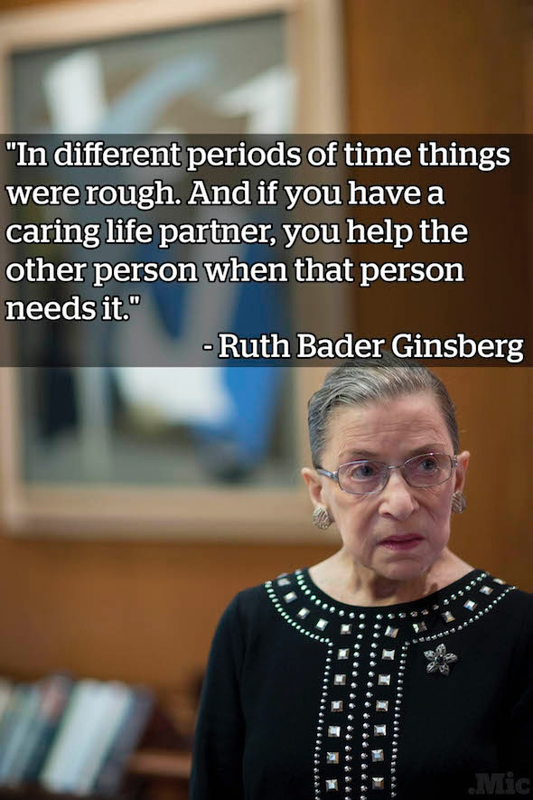 From Supreme Court Justice Ruth Bader Ginsburg's July interview with Katie Couric.