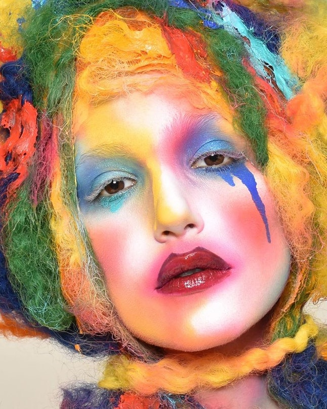 Some of Alcone's more theatrical makeup on a model