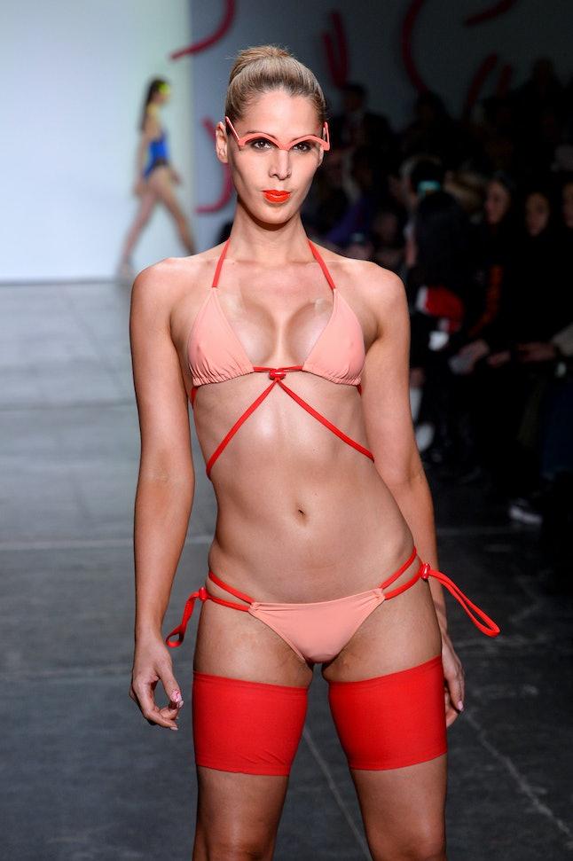 Carmen Carrera walking for Chromat at New York Fashion Week
