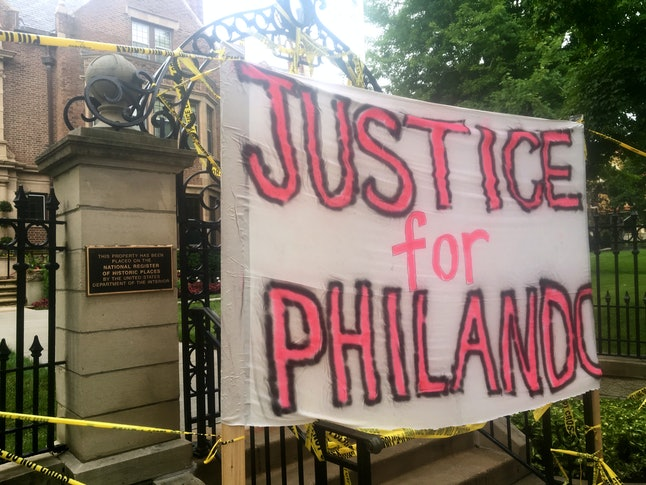 Protesters called for justice after Philando Castile's death.
