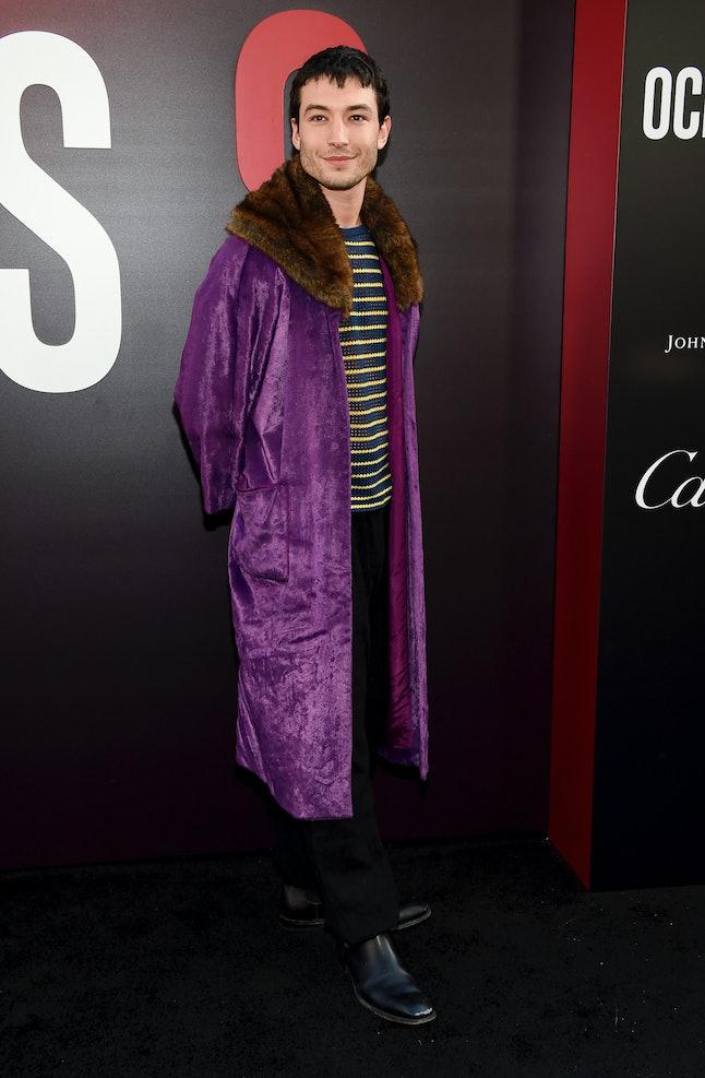 Ezra Miller attends the world premiere of 'Ocean's 8'