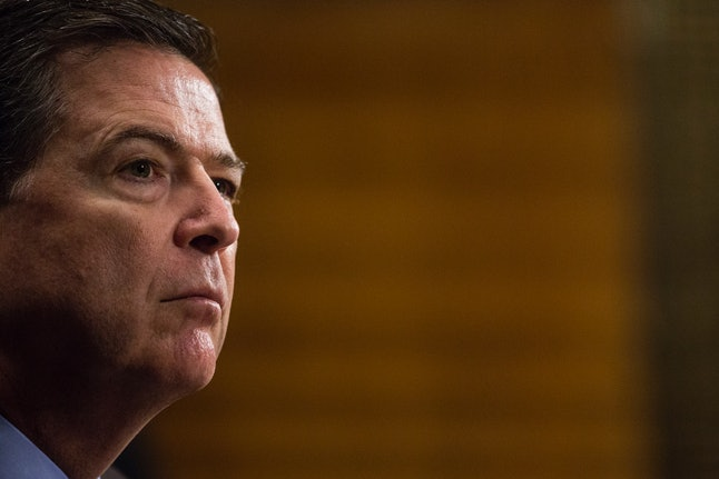 Former FBI Director James Comey, who Trump fired in May.