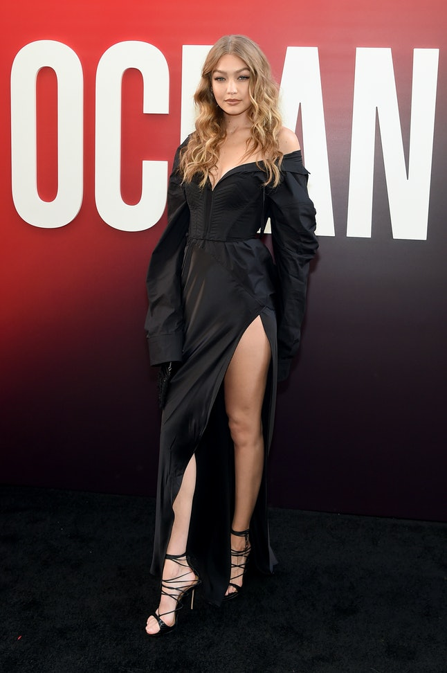 Gigi Hadid attends the world premiere of 'Ocean's 8'